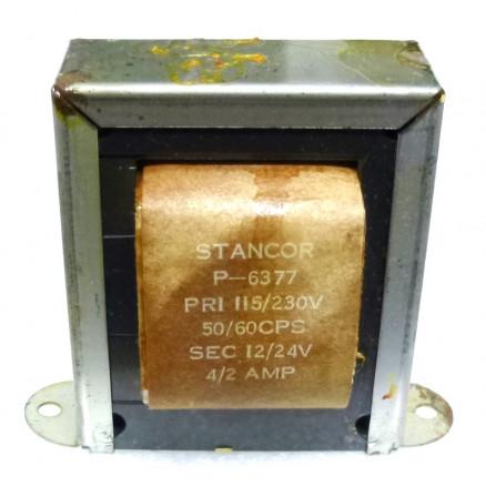 P-6377 Low voltage transformer, 115/230VAC, 24v, 2 amp, Stancor