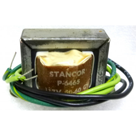 P-6465 Low voltage transformer, 117VAC, 6.3v C.T, 0.6 amp, Stancor