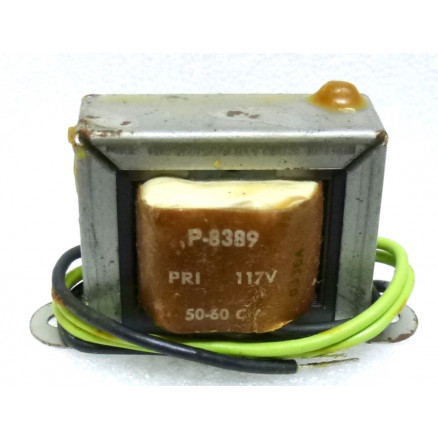 P-8389 Low voltage transformer, 117VAC, 6.3v, 1 amp, Stancor