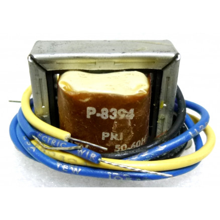 P-8394 Low voltage transformer, 117VAC, 24v C.T., 0.085 amp, Stancor