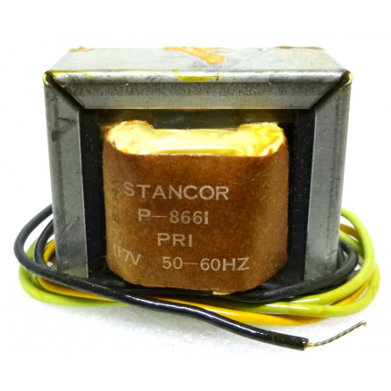 P-8661 Low voltage transformer, 117VAC, 24v C.T., 1 amp, Stancor