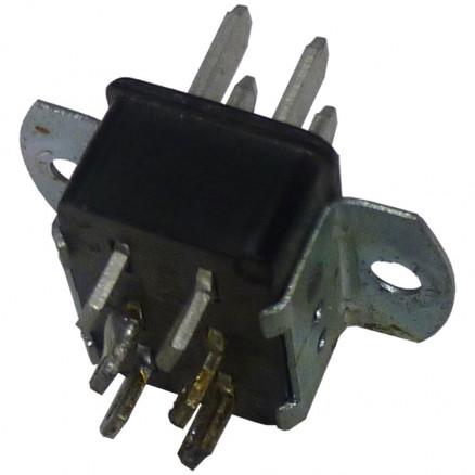P306AB  6 Pin Cinch Connector Plug w/Angle Brackets  (Jones)
