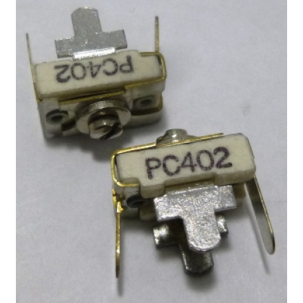402-PC Capacitor, Trimmer Compression Mica, 4-20 pf PC mount