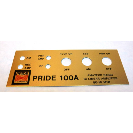 PRIDEFACE100A Replacement Faceplate for Pride 100A