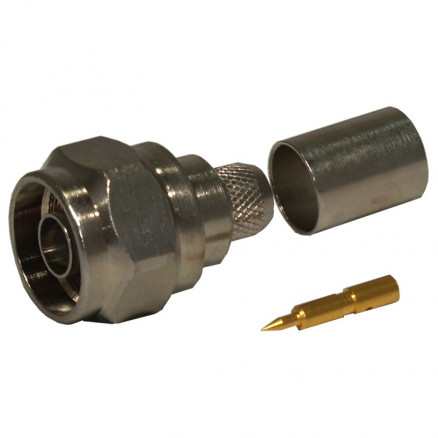 R161075040 Type-N Male Crimp Connector, Cable Group I, Radiall