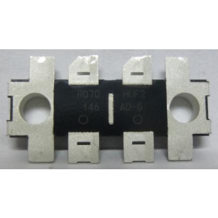 RD70HUF2-101  Transistor, 70 watt, 520 MHz, 12.5v, Mitsubishi