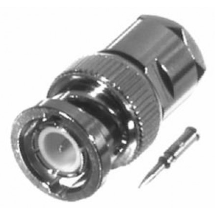 0-RFB1101-1X  BNC Male Clamp Connector, Cable Group X, RFI