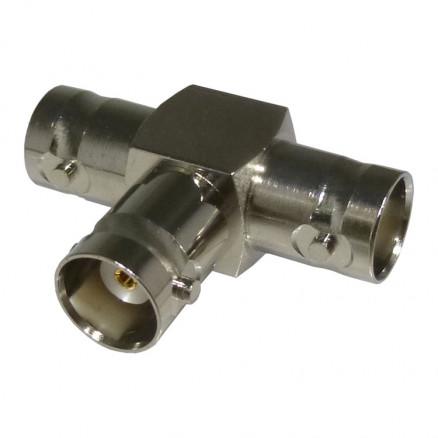 0-RFB1131 In Series Adapter, BNC Triple Female TEE,  RFI