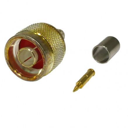 RFN1007-1G Type-N Male Crimp Connector, Cable Group G, RFI