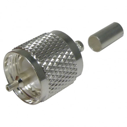 RFU505-STC1 UHF Male Crimp Connector, (PL259), Cable Group C1, RFI