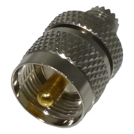 RFU626 Between Series Adapter, Mini UHF Female to UHF Male(PL259), RF Industries