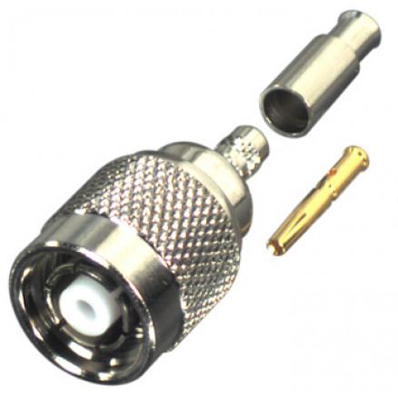 RP1202-1B  TNC Reverse Polarity Male Crimp Connector, Cable Group B, RFI