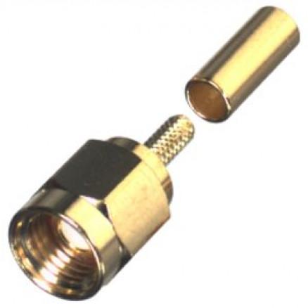 RSA3000-1B SMA Male Crimp Connector, Cable Group B, RFI
