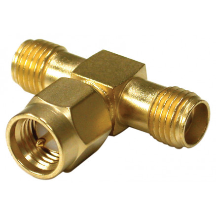 RSA3400 SMA In Series Adapter, Male to Double Female TEE, RFI