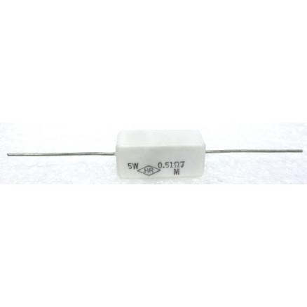 RSQ5-.51  Cement Wirewound Resistor, 0.51 ohm 5 watt, HR