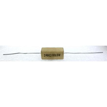 RSQ5-240  Cement Wirewound Resistor, 240 ohm 5 watt, 10%
