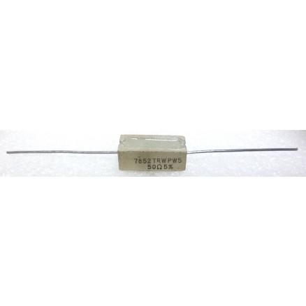RSQ5-50 Cement Wirewound Resistor, 50 Ohm 5watt, TRW