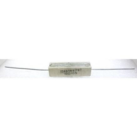 RSQ7-10  Cement Wirewound Resistor, 10 Ohm 7 watt, TRW
