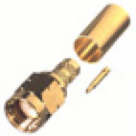 RT3000-1C1 Connector, sma(m) crimp, Reversed thread, Cable Group: C1, RF Industries