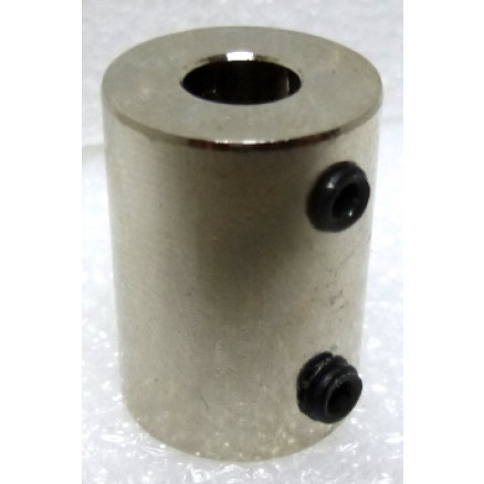 "SC9  Shaft Coupler, Nickel Plated, 1/4"" shaft"