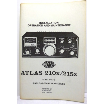 SMA210X  Installaition operation and Maintenance Manual for Atlas 210X/215X