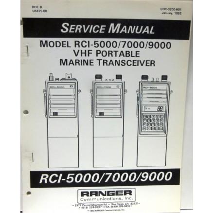 SMRCI50  Service Manual for Ranger RCI5000 / 7000 / 9000 VHF Portable Marine Radios