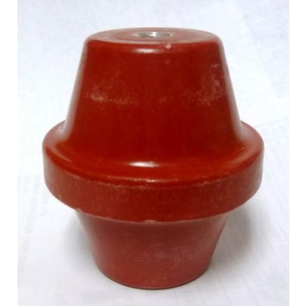 """1872-1B Standoff Insulator, 2.75"""" L x 2.5"""" Dia., Red, Glastic"""