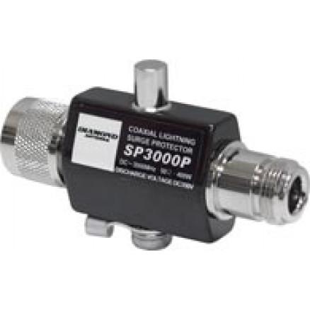 SP3000P - Lightning Arrestor Type N Male to Type-N Female, DC-3000 MHz, 400w PEP, Diamond