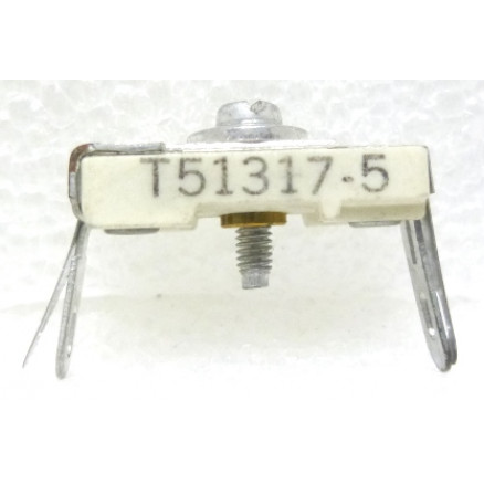 T51317-5 Trimmer, compression mica, 10-100 pF, Similar to 423