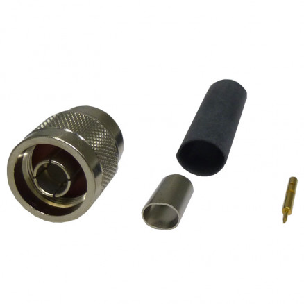 TC240NM-75 Connector, type-n male crimp , 75 ohm knurled nut, Cable Group: X, TIMES