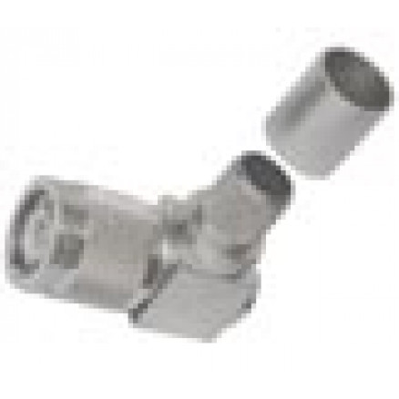 TC400TMRA TNC Male Crimp Connector, Right Angle, Cable Group I, Times