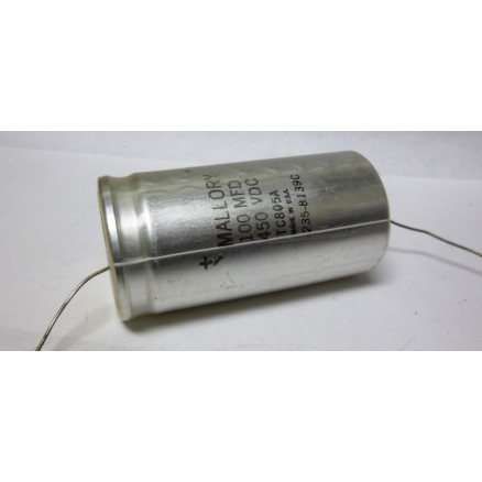 TC805A -NOS  Capacitor, Electroylic 100uf 450 volt, Axial Lead, Mallory