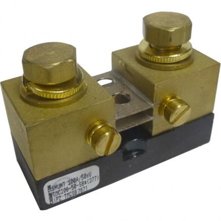 "TMC200-50  Meter Shunt, 200amp, 50mv, 1"" x 2.5"" x 1.8"" Crampton"