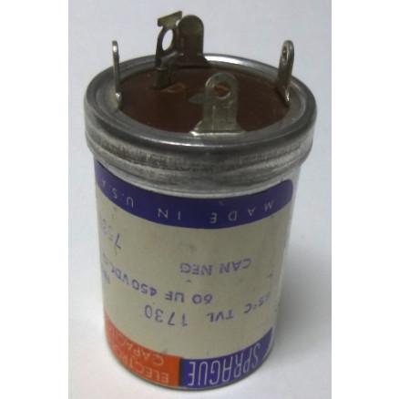 TVL1730 Capacitor 60 uf 450v can, Sprague