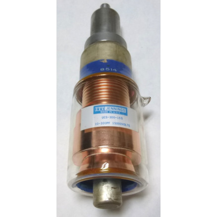 UCS300-15S  Vacuum Variable Capacitor, 10-300pf 7.5kv (Clean Used - Removed from Equipment)