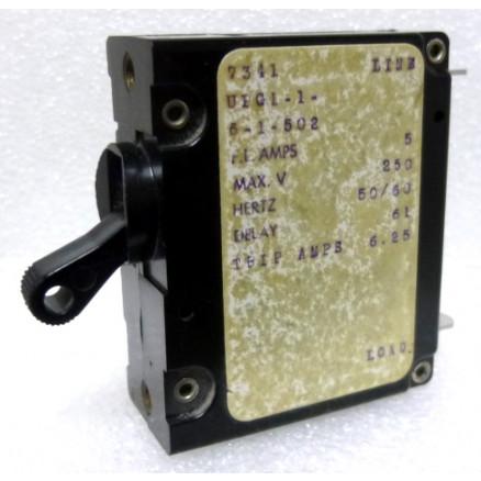 UPG1-1-6-2-302 Circuit Breaker, Single AC, 3a, Airpax