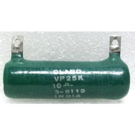VP25K-10  Wirewound Resistor, 10 ohm 25 Watt, Clarostat