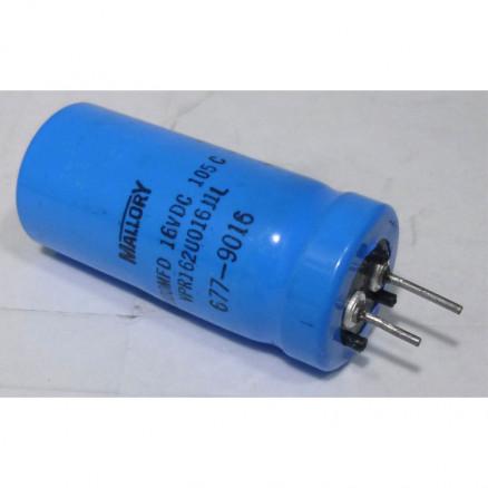 VPR162 Capacitor 1600 uf 16v, Mallory