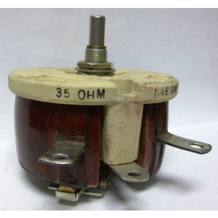 VR75-35 Resistor, Variable, Rheostat, 35 ohm 75 Watt, (RP201FD350KK), McGuire Products