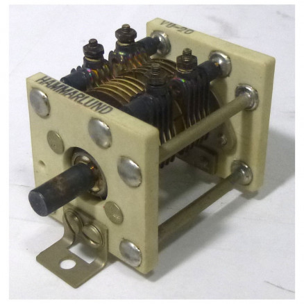 VU20 Variable Capacitor, Panel Mount, 2.0- 20 pf, Hammarlund